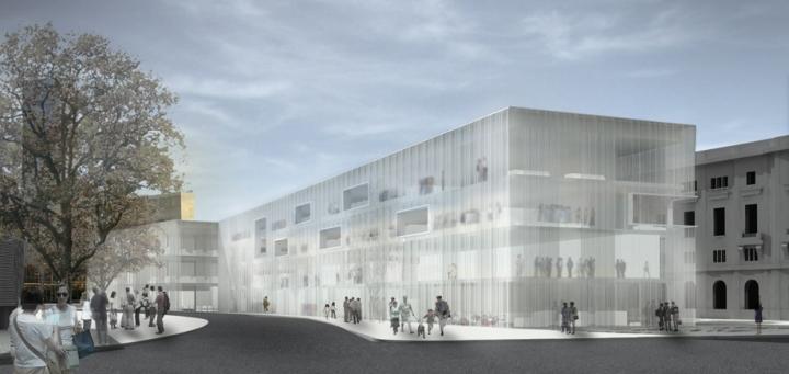 Concurso biblioteca p blica del estado en barcelona for Biblioteca arquitectura
