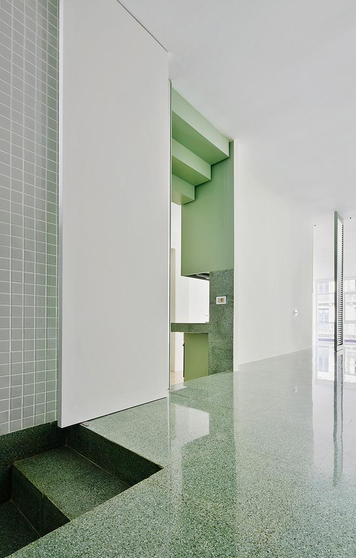 Reforma de una vivienda en la calle casanova barcelona - Estudios de arquitectura en barcelona ...