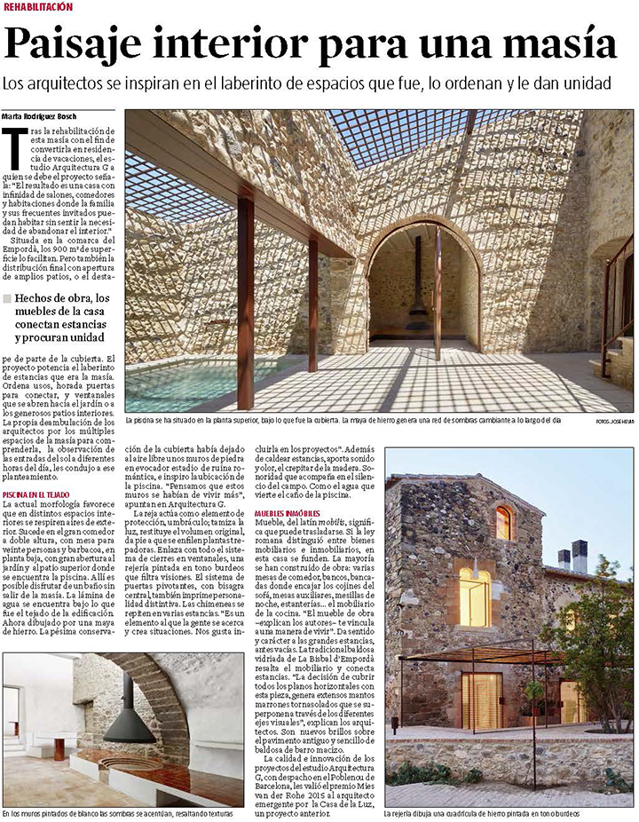 ARQUITECTURA-G LA VANGUARDIA emporda
